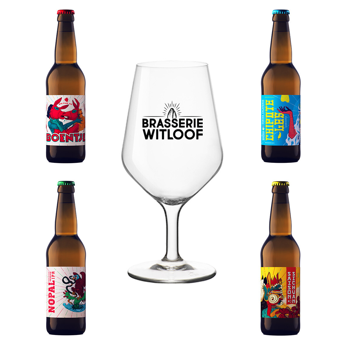 WITLOOF BEER BOX 8 x 33cl + GLASS