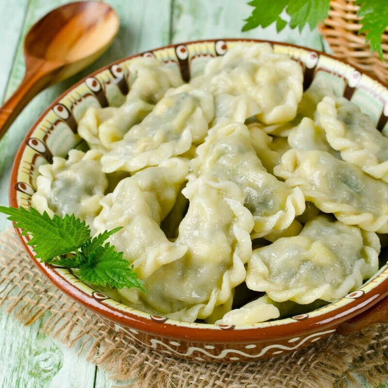 HANDMADE DUMPLINGS WITH FRIED CABBAGE
