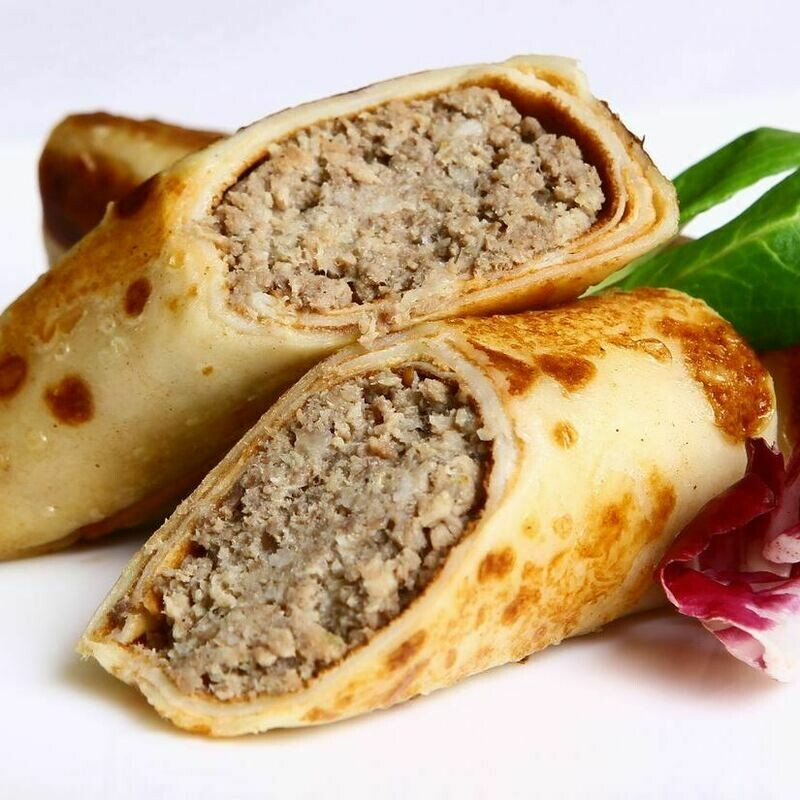 STUFFED PANCAKES (MEAT+RICE)