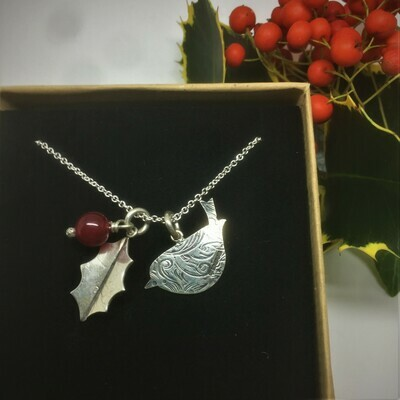 Robin and Holly pendant