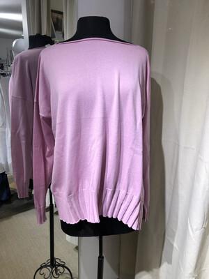 Planet Pink Boatneck Rib Sweater