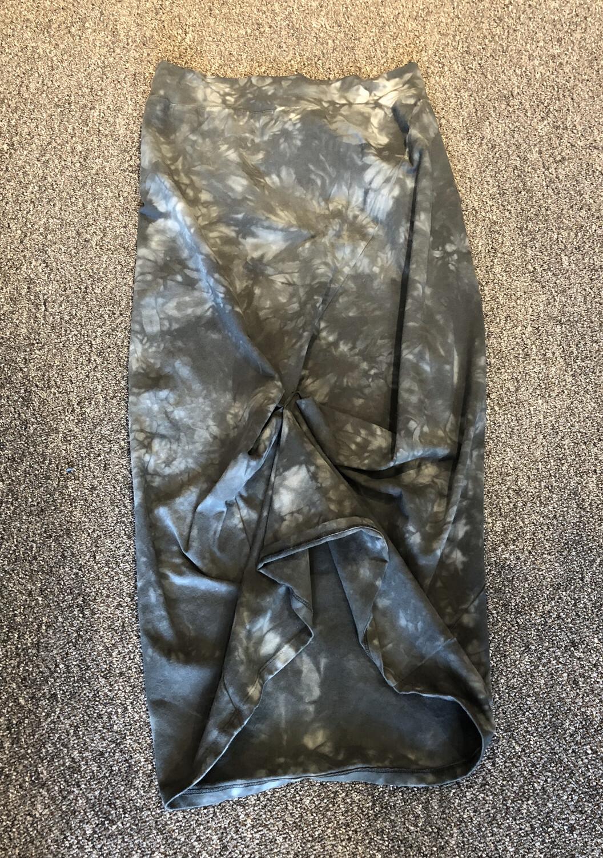 Annie Turbin Green Gray Tie Dye Skirt