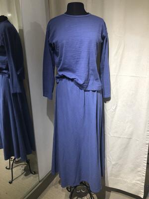 CP Shades Blue Twill Knit Skirt