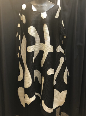Issey Miyake Black And White Dress/Tunic