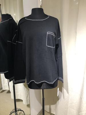 Belford Black Pocket Sweater