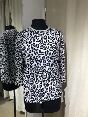 Belford White Leopard Sweater