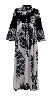 Alembika Dahlia Print Caftan Dress