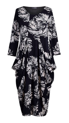 Alembika Dahlia Print Fitted Scoop Dress