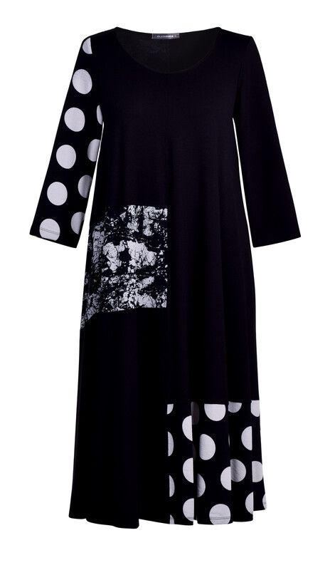 Alembika Mixed Media Longsleeve A-line Dress