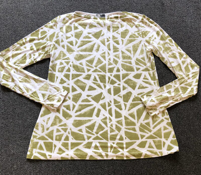 Annie Turbin Chartreuse Geometric Tshirt