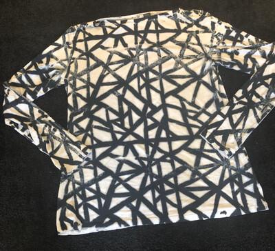 Annie Turbin Geometric Black And White Tshirt