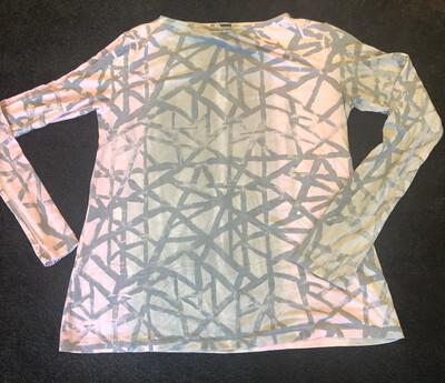 Annie Turbin Geometric Pink And Gray Tshirt