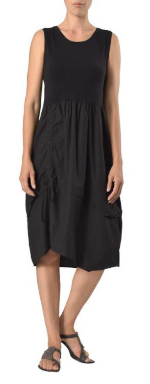 Crea Black Sleeveless Tulip Dress
