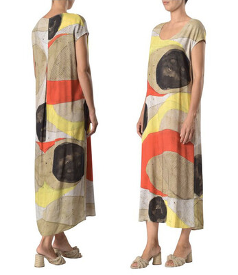 Crea Spring Capsleeve Long Dress