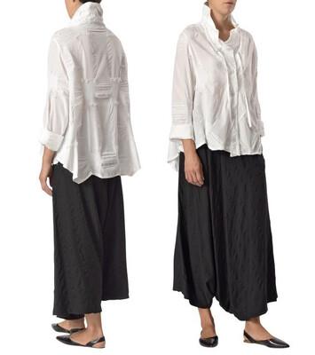 Crea Textured White Shirt