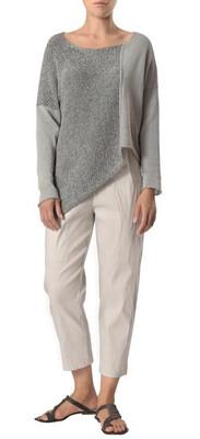 Crea Gray Assymetrical Sweater