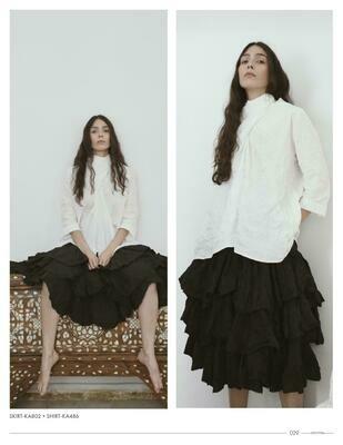 Amma Black Ruffles Skirt
