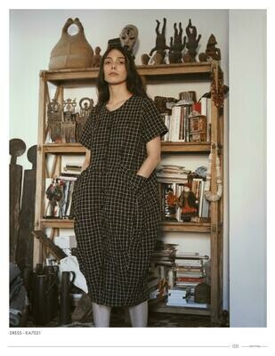 Amma Checkered Tulip Dress