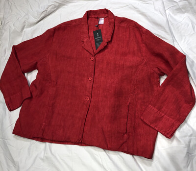 Elemente Clemente Pomegranate Linen Naby Jacket