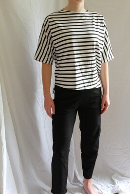 Matthildur Black Tapared Soft Pants