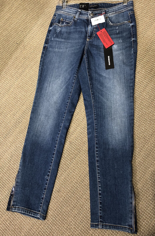 Cambio Zipper Hem Jeans