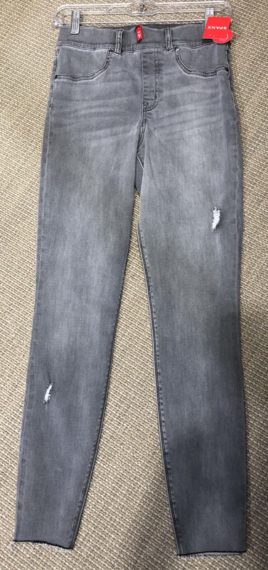Spanx Gray Distressed Pull On Jeggings Jeans