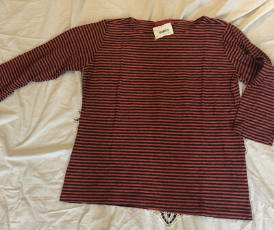 Cutloose Red And Gray Stripe Tee