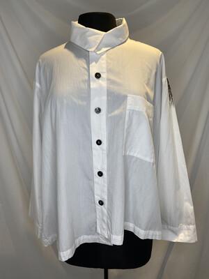 Moyuro White Brushstroke Shirt