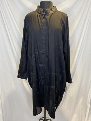 Moyuro Black Scribble Shirt Dress