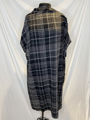 Moyuro Plaid Linen Dress