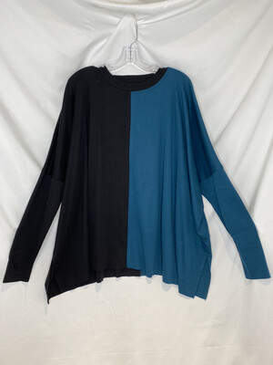 Planet Teal And Black Boxy T-Shirt