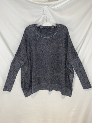 Planet Metallic Pewter Seed Stitch Sweater