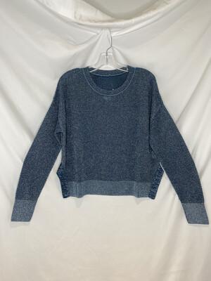 Planet Metallic Teal Seed Stitch Mini Sweater
