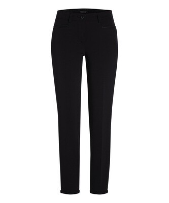 Cambio Black Cotton Renira Trousers