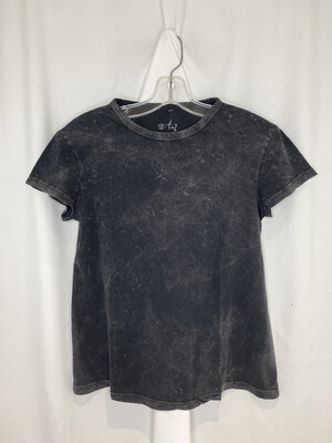 A To Z Washed Black Tee
