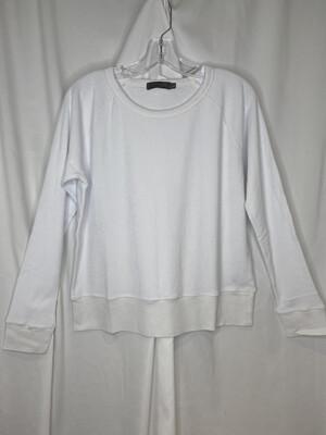 Mododoc White French Terry Raglan Sweatshirt