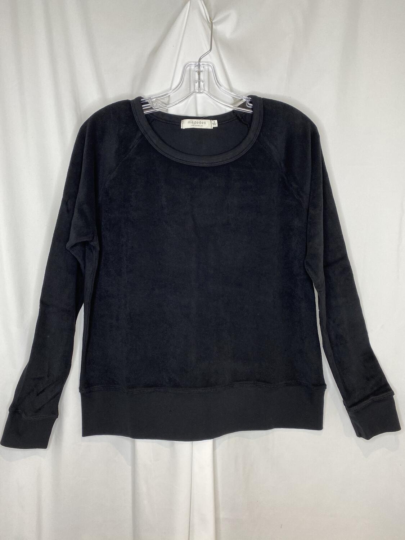 Mododoc Black French Terry Raglan Sweatshirt