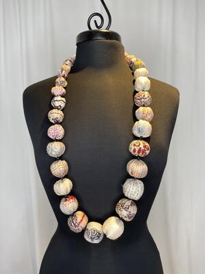 Mieko Mintz Ivory Nuts Long Neclace