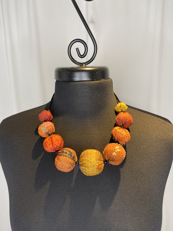 Mieko Mintz Rust Nuts Rust Necklace