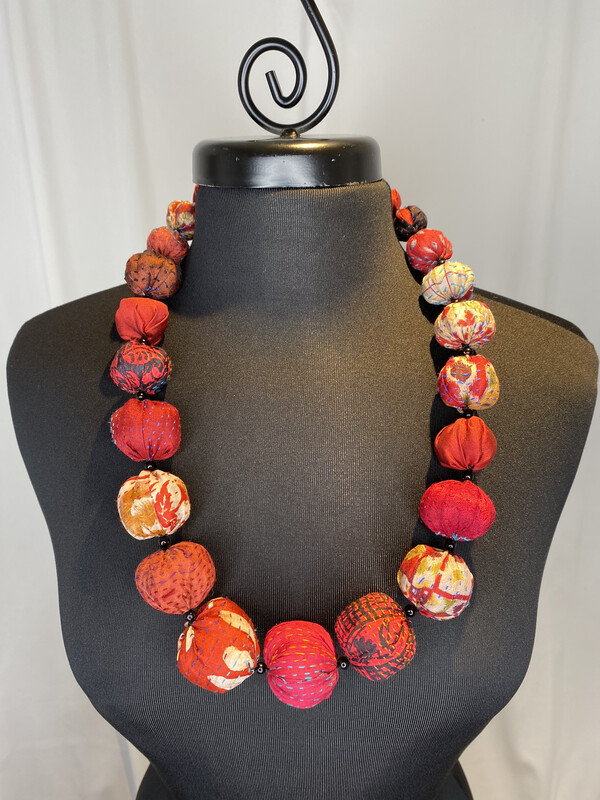 Mieko Mintz Red Nuts Medium Necklace