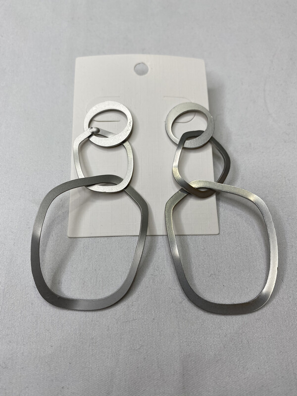 Escape From Paris Metal Rings Earrings