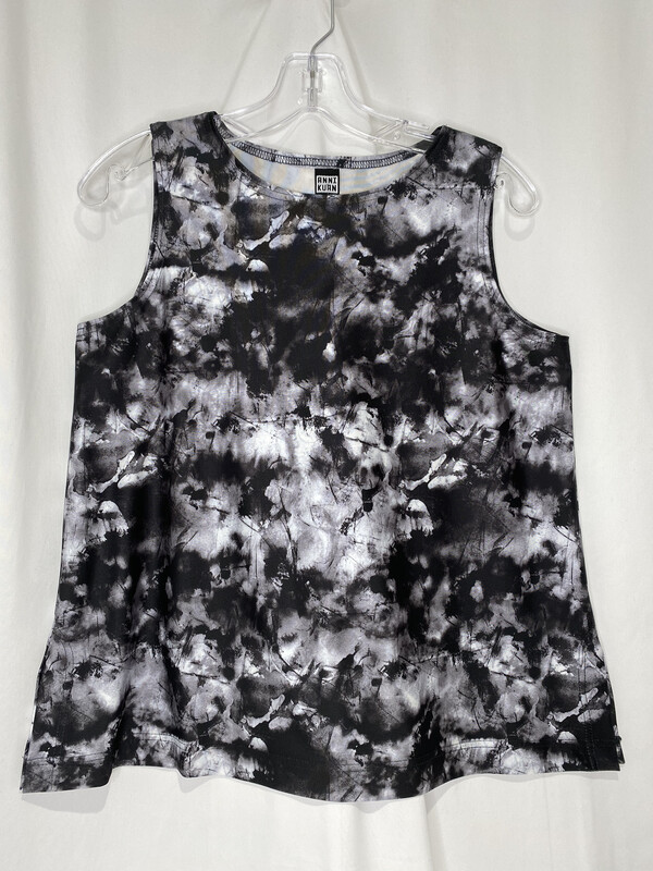 Anni Kuan Black And White Watercolor Tank