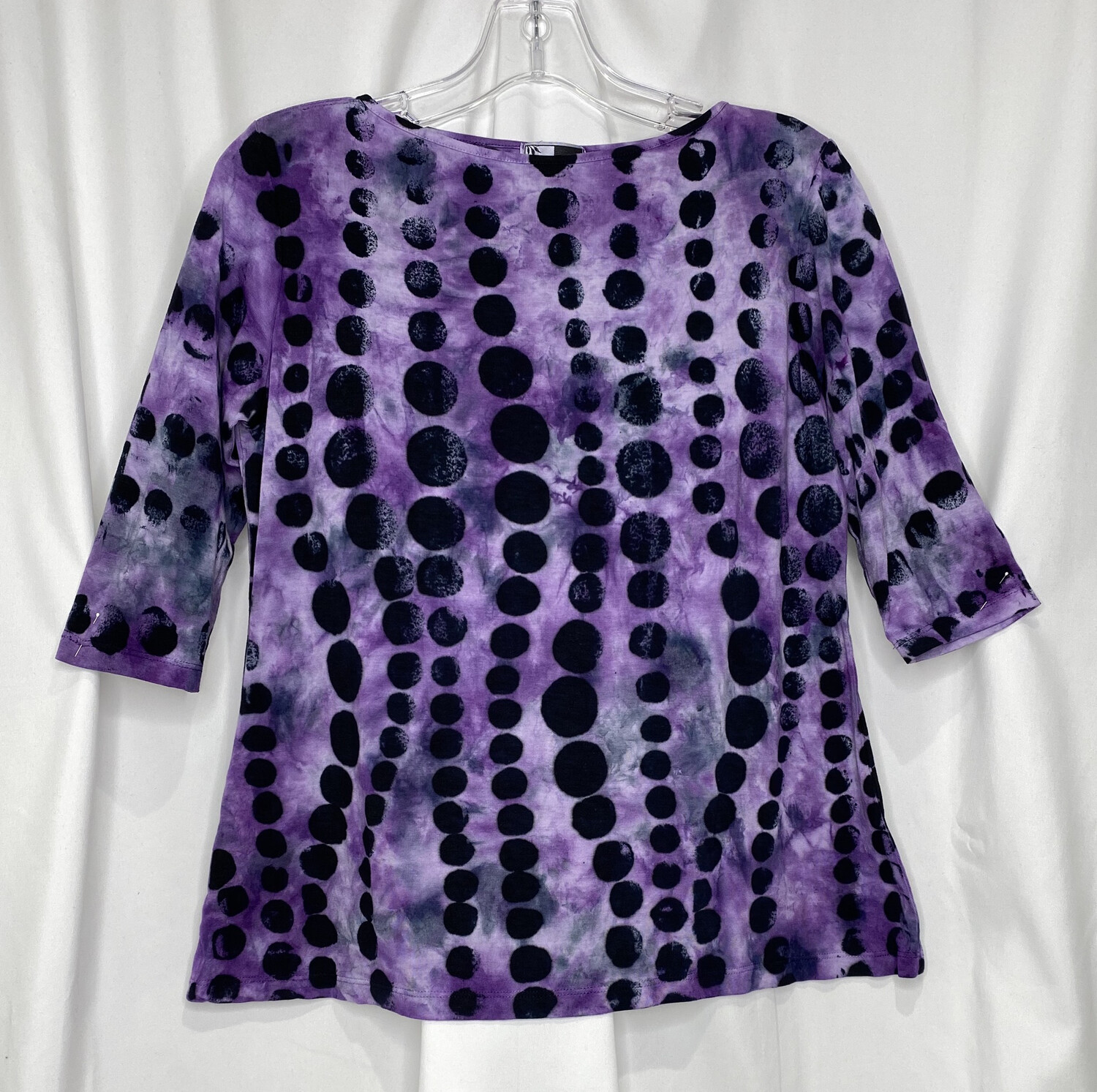 Annie Turbin Purple Dots 3/4 Sleeve Tshirt