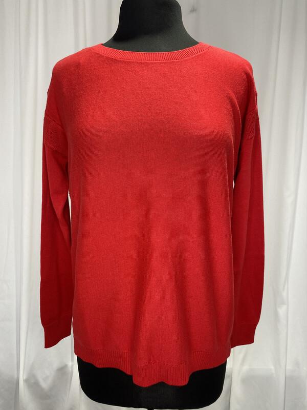 Elliot Lauren Red Cotton Sweater