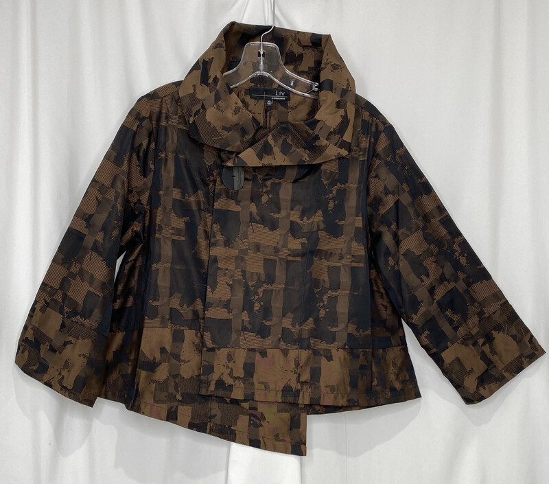Liv Chestnut Short City Jacket