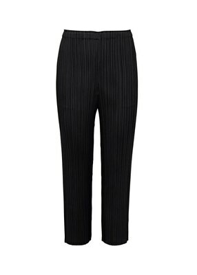 Issey Miyake Pleats Please Black Slim Straight Pants