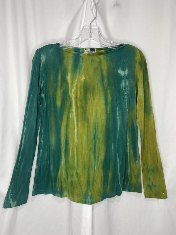 Annie Turbin Multi Green Longsleeve Tshirt
