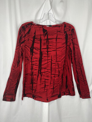 Annie Turbin Red Crackle Tshirt