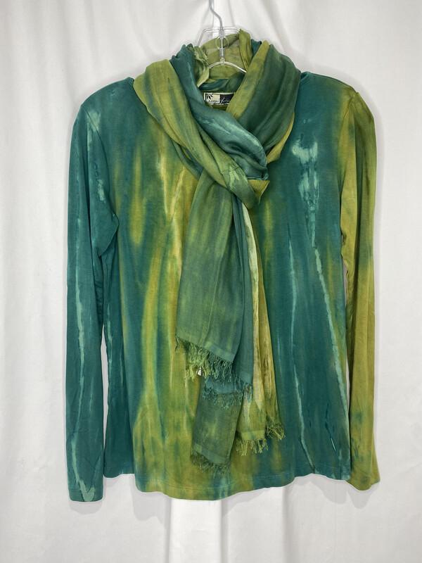 Annie Turbin Mixed Green Scarf