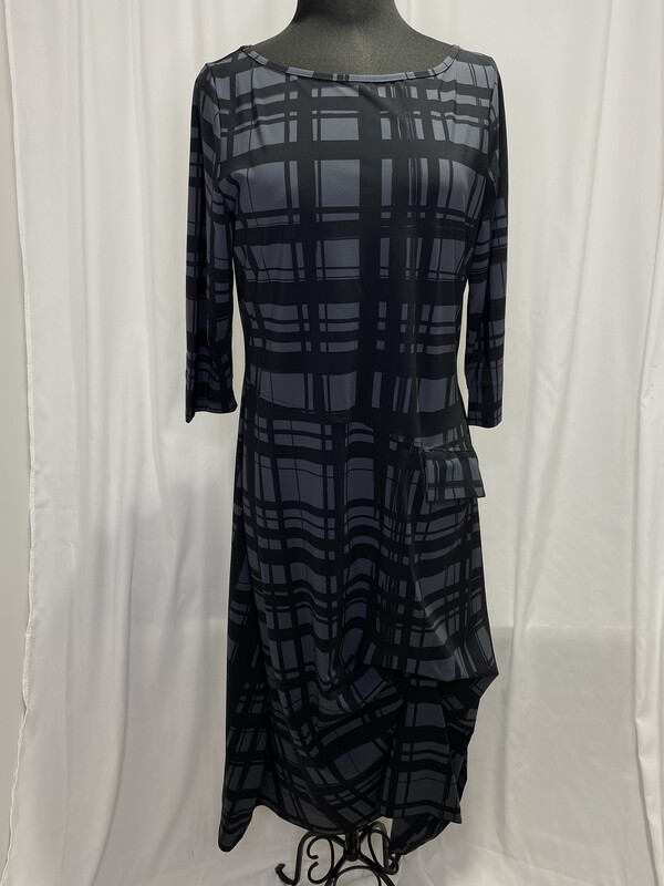 Porto Carbon Plaid Fenwick Dress